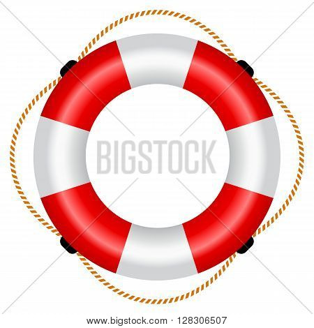 Life raft icon isolated on white background