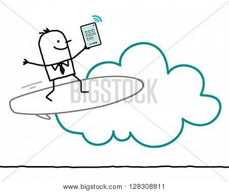 cartoon characters and cloud - surf
