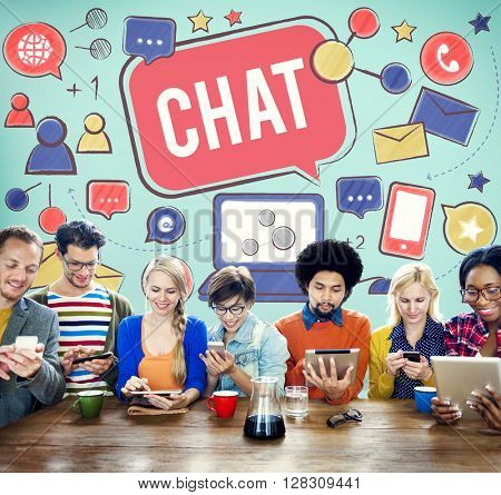 Chat Communication Social Media Networking Connection Concept