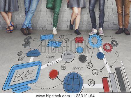 Business plan Data Development Information Concept
