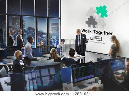 Work Together Teamwork Collaboration Union Unity Concept