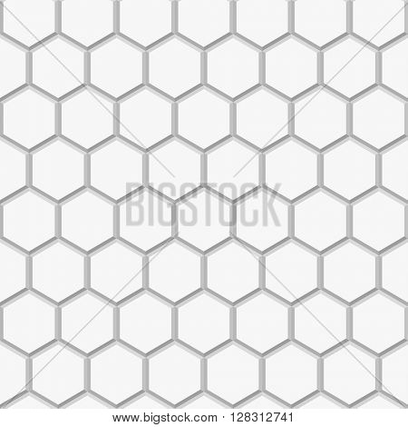 seamless pattern with 3d hexagon ornament