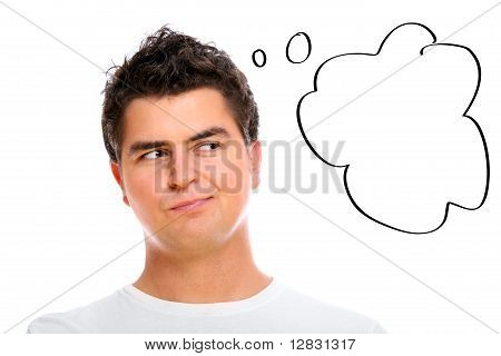 Handsome Man With A Thought