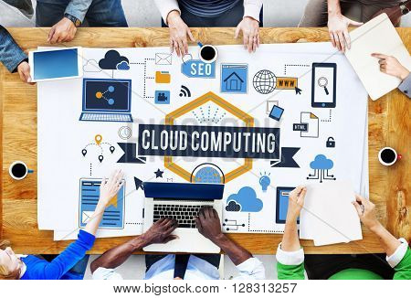 Cloud Computing Connection Networking Concept