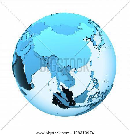 Southeast Asia On Translucent Earth