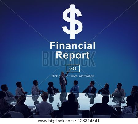 Financial Report Dollar Sign Go Concept