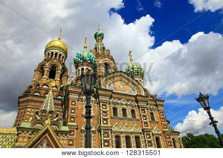 Church of the Savior on Spilled Blood, Saint Petersburg, Russia.
