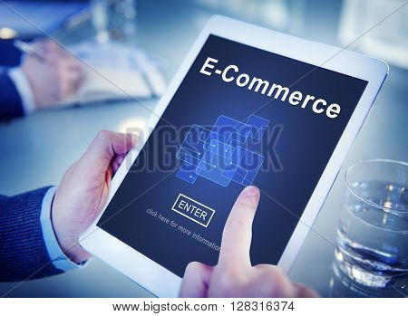 E-Commerce Marketing Online Register Enter Technology Concept