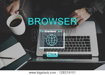 Browser Internet Technology Information Concept