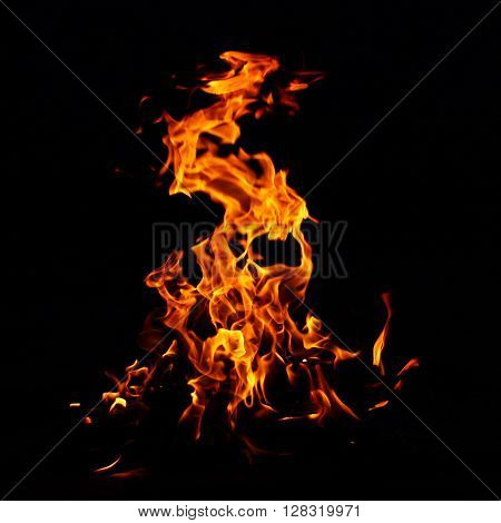 blaze yellow fire flame texture background hot