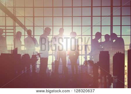 Business People Corporate Connection Discussion Meeting Concept