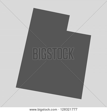 Black map of the State of Utah - vector illustration. Simple flat map State of Utah.