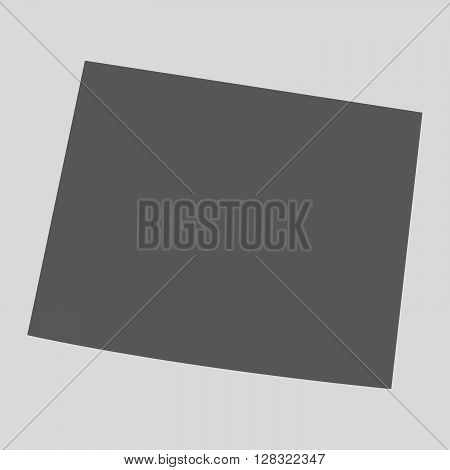 Black map of the State of Wyoming - vector illustration. Simple flat map State of Wyoming.