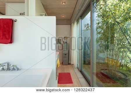 Architecture modern design, interior of the bathroom