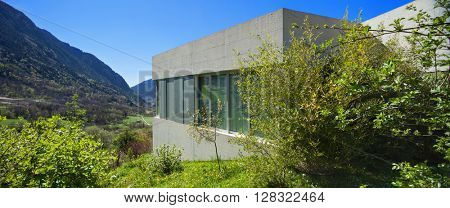 Architecture modern design, concrete house, exterior