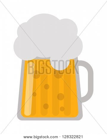 Beer cup vector illustration.