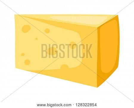 Cheese slice vector illustration.
