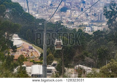 Aerial View Of Quito From Cableway