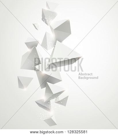 Abstract white background with geometric elements