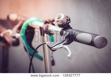 Detail of a Bicycle Handlebar. transport concept.