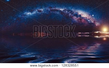 beautiful milky-way in night sky