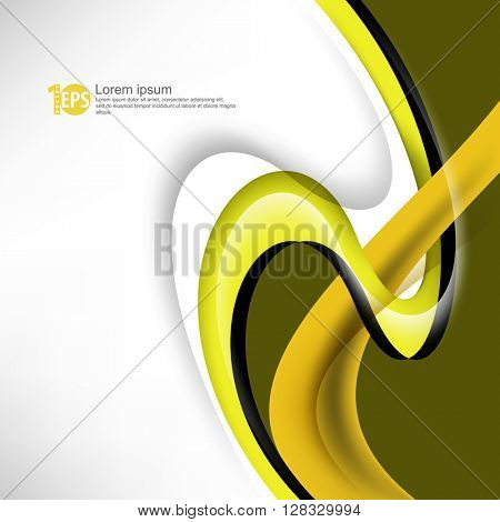 abstract swirling lines flat layout corporate design material background. eps10 vector
