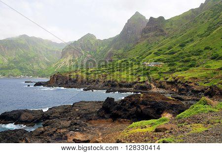 Volcanic Coastline In The Bay Of Fajan D'agua