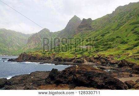 Mountain Range Over Fajan D'agua
