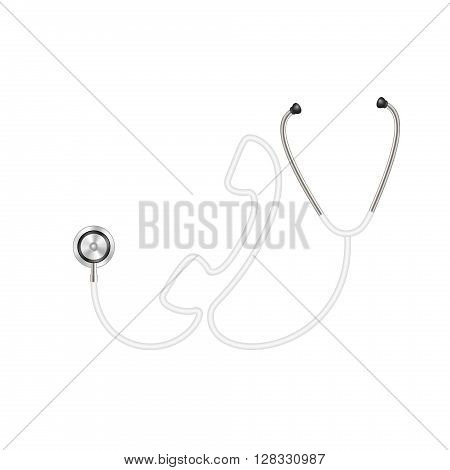 Stethoscope in shape of telephone in white design