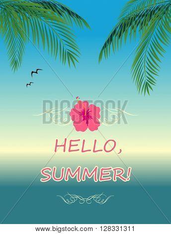 Summer poster. Hello Summer!