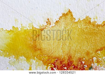 Yellow Watercolour Background 7