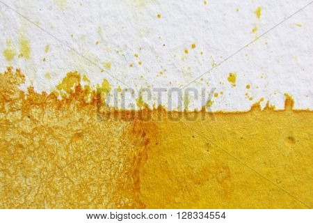 Yellow Watercolour Background 4