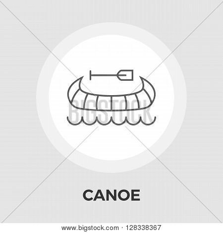 Canoe icon vector. Flat icon isolated on the white background. Editable EPS file. Vector illustration.