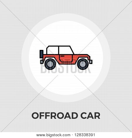Offroad car icon vector. Flat icon isolated on the white background. Editable EPS file. Vector illustration.