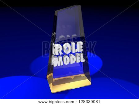 Role Model Example Mentor Award Winner 3d Illustration
