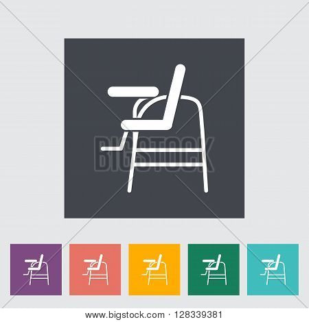 Chair for baby icon. Flat vector related icon for web and mobile applications. It can be used as - logo, pictogram, icon, infographic element. Vector Illustration.