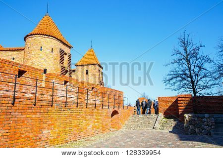 Warsaw, Poland, 13 March 2016: Barbican And Old Town Square In Warsaw In A Sunny Day. Warsaw Is The