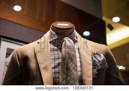 Close up of elegant male suit made in Italy