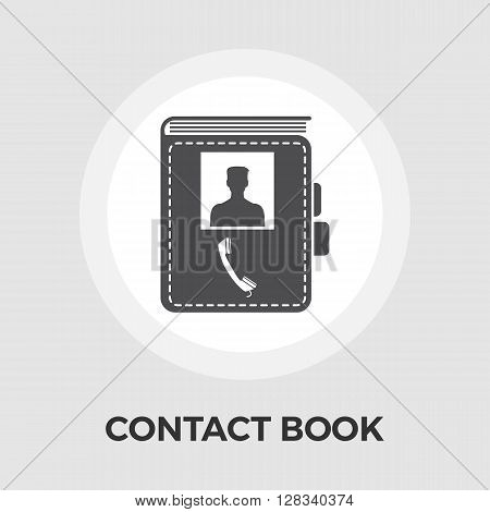 Contact book icon vector. Flat icon isolated on the white background. Editable EPS file. Vector illustration.