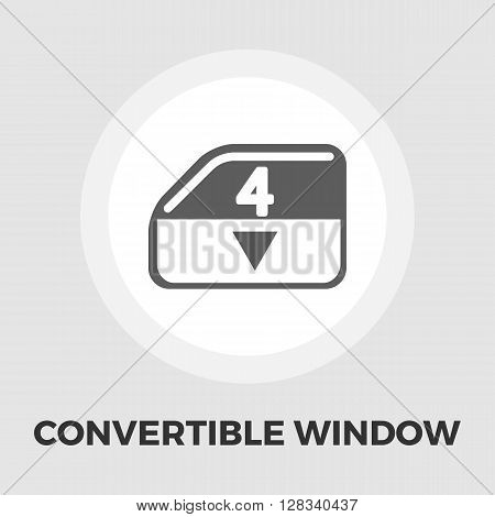 Window lock icon vector. Flat icon isolated on the white background. Editable EPS file. Vector illustration.