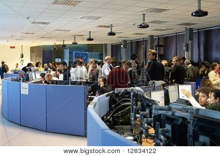 CERN ATLAS experiment control room