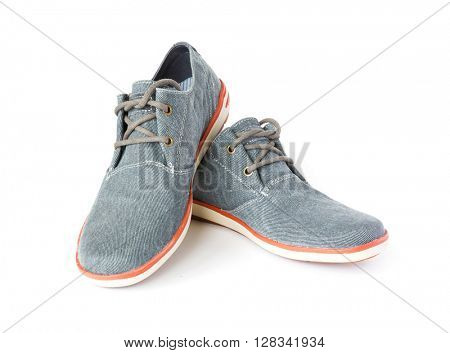 casual fabric shoes isolated