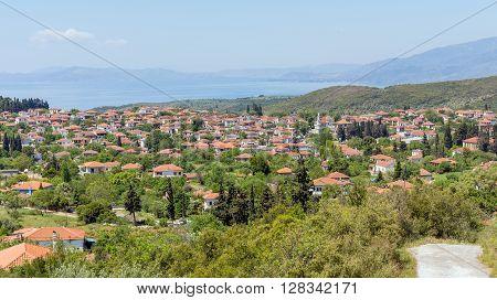 View of Argalasti village in Pelio, Greece