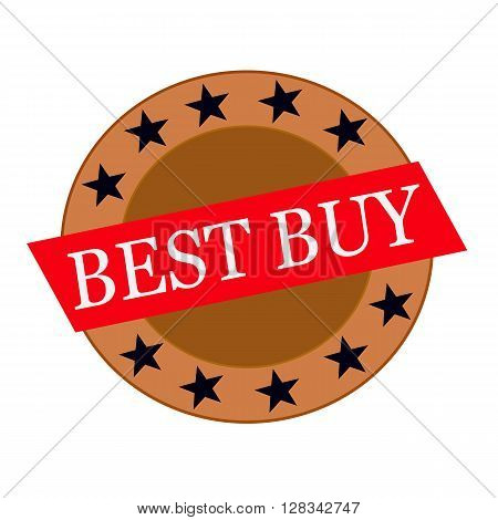best buy white wording on Red Rectangle and Circle brown stars