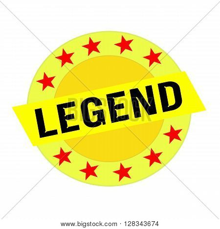 Legend black wording on yellow Rectangle and Circle yellow stars