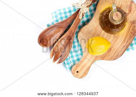 Kitchen utensils. Isolated on white background