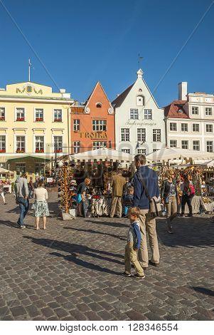 Medieval Market In Tallinn Old Town Square, Estonia