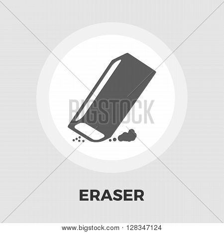 Eraser icon vector. Flat icon isolated on the white background. Editable EPS file. Vector illustration.