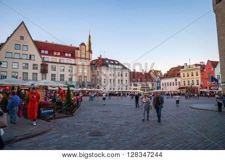 Tallinn Old Town Square, Estonia