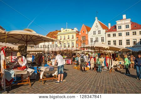 Medieval Market Of Old Town Main Square, Tallinn, Estonia